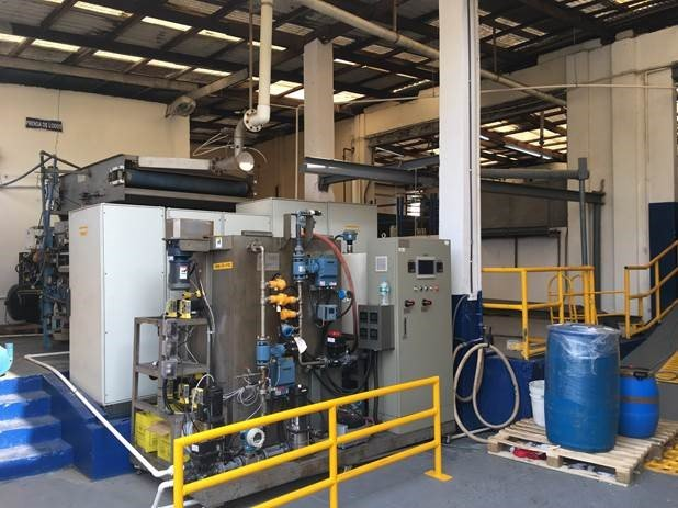 swt pilots mbr on textile wastewater in latin america