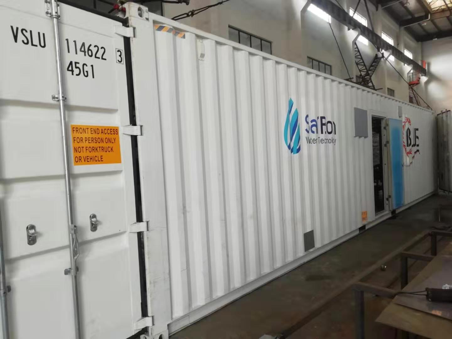 containerized seawater reverse osmosis system shipping to site