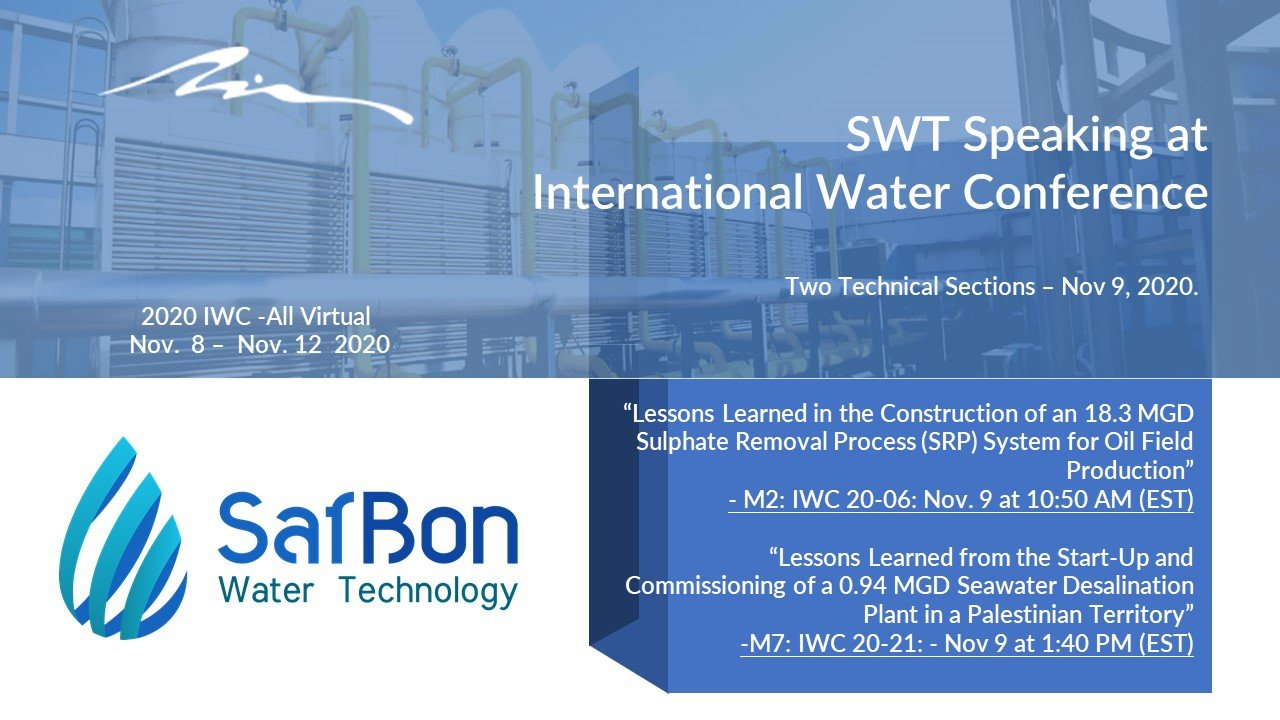 swt speaking at  international water conference