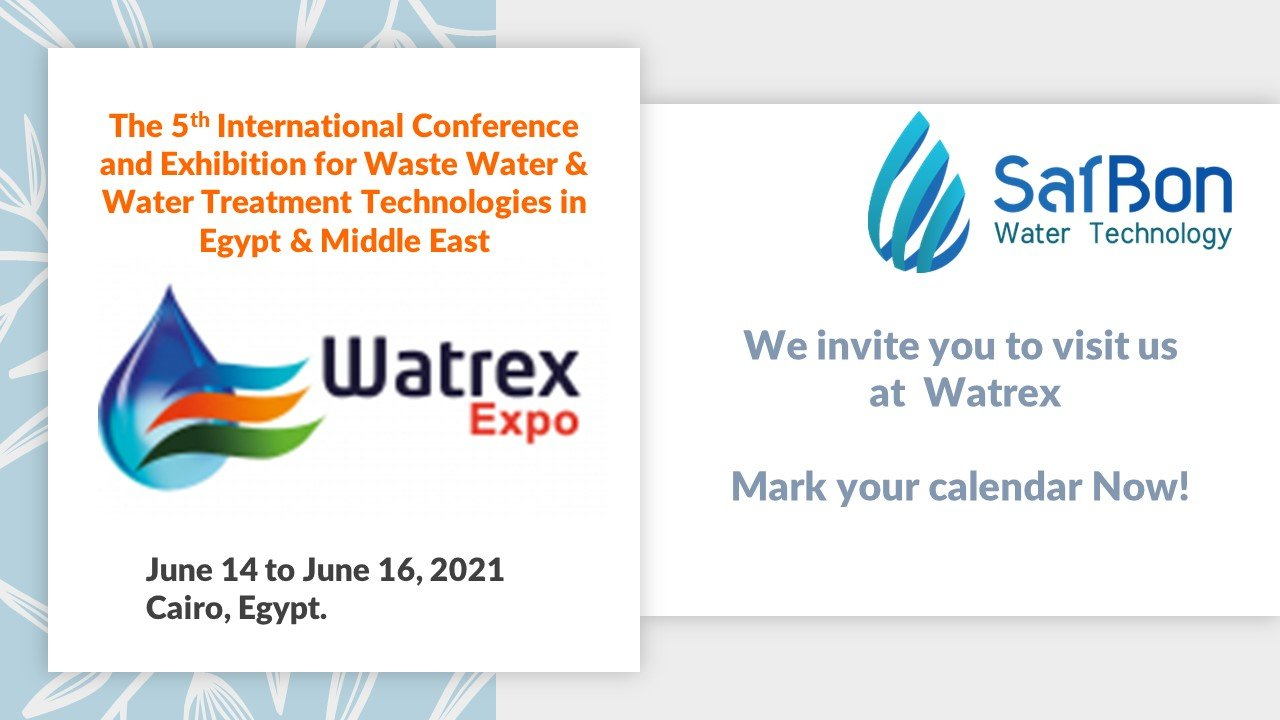 safbon water technology will be in cairo for watrex expo 2021